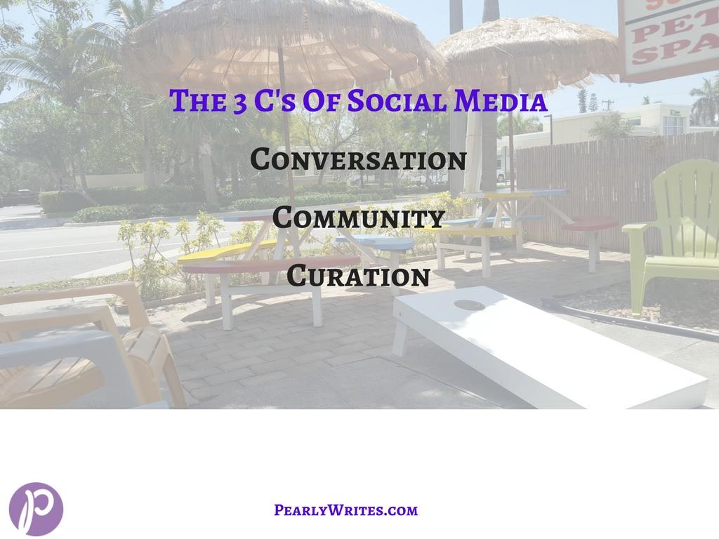 3 C's of Social Media