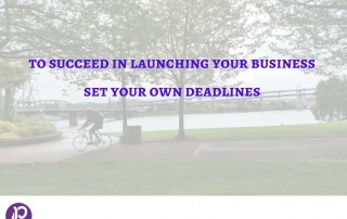 Set your own deadlines to succeed