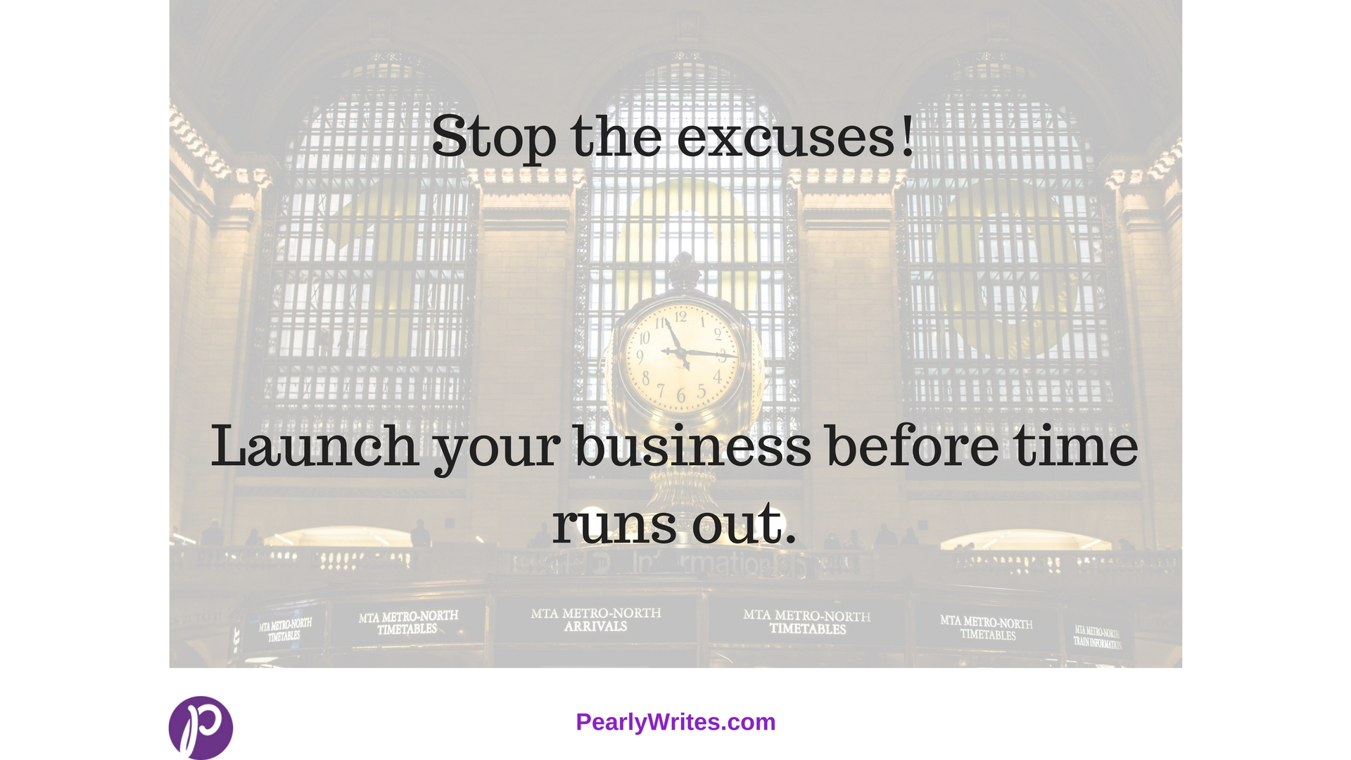 Stop excuses launch web business